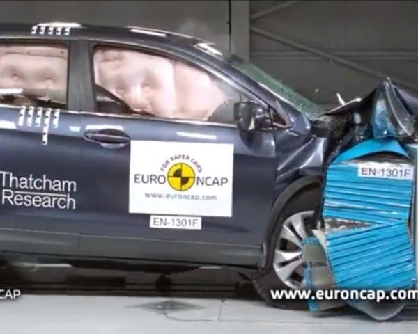 Краш-тесты Honda CR-V 2013 и Citroen C4 Picasso 2013
