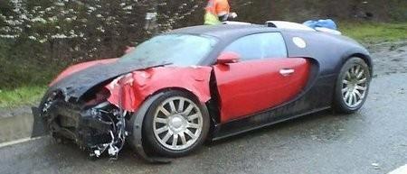 Первая авария с участием Bugatti