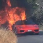 Футболист Эвер Банега потерял в огне спорткар Ferrari 360 Modena