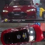 Краш-тест Tesla Model S 2014 (видео)