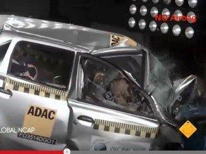 Datsun Go не выдержал фронтальный краш-тест