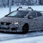 «Заряженная» Honda Civic проходит финальные дорожные испытания